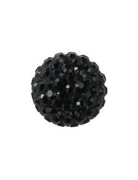 Pave ball 10mm jet hematite
