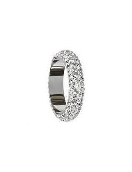 Pavé ring 14.5mm 2trous crystal