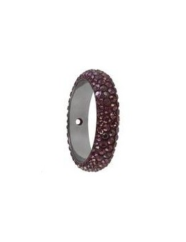 Pave ring 16.5mm 1 trou crystal lilac shadow