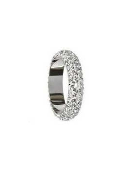 Pave ring 16.5mm 2 trous crystal