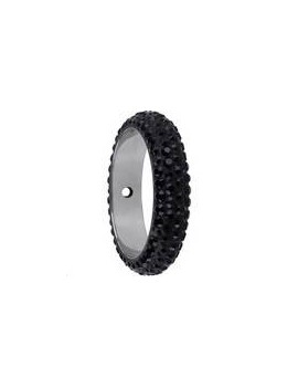 Pave ring 16.5mm 2 trous jet