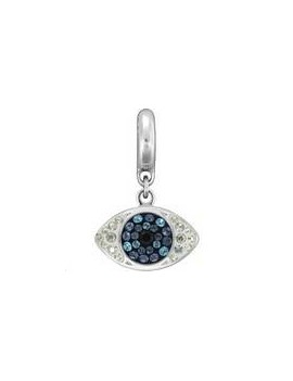 Pave charms oeil 8.5x14mm Jet - Montana - Indicolite - Crystal moonlight