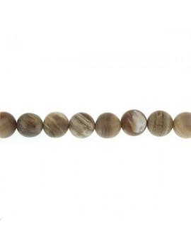 Bois opalite rond 9-10mm mat lot de 4 pièces