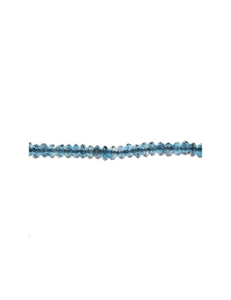 Topaze de Londres rondelle facettes 3mm lot de 2cm (environ 5 perles)