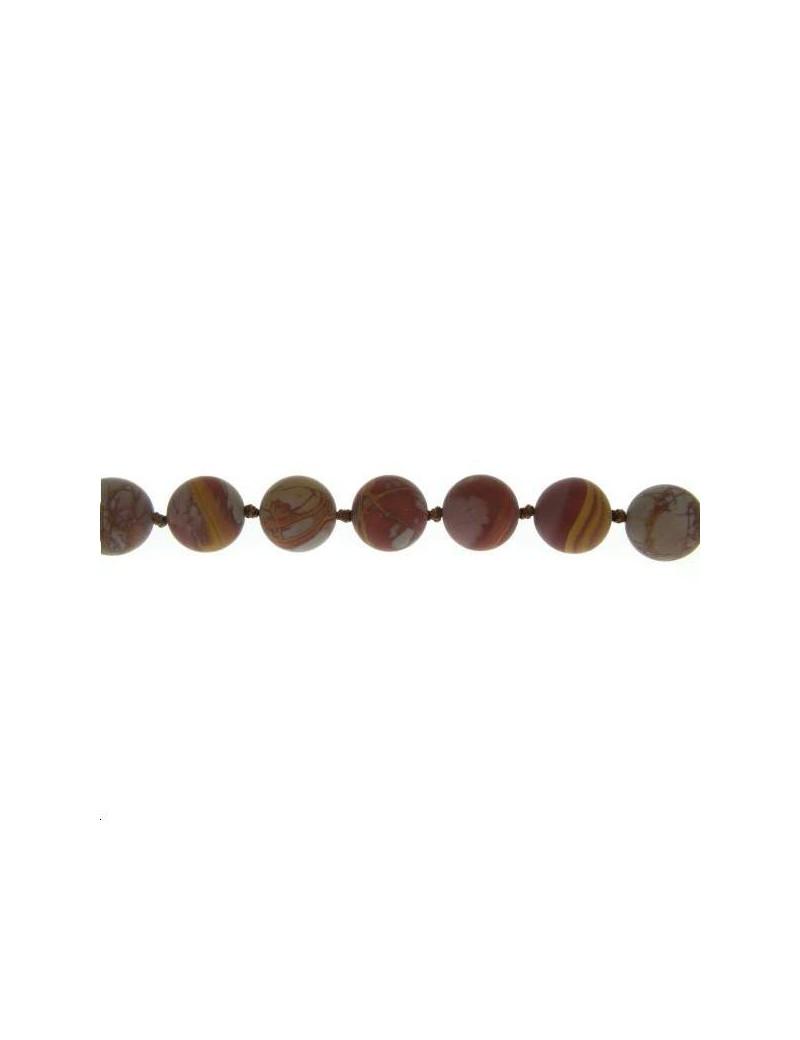 Jaspe noreena 13-14mm mat lot de 2 pièces