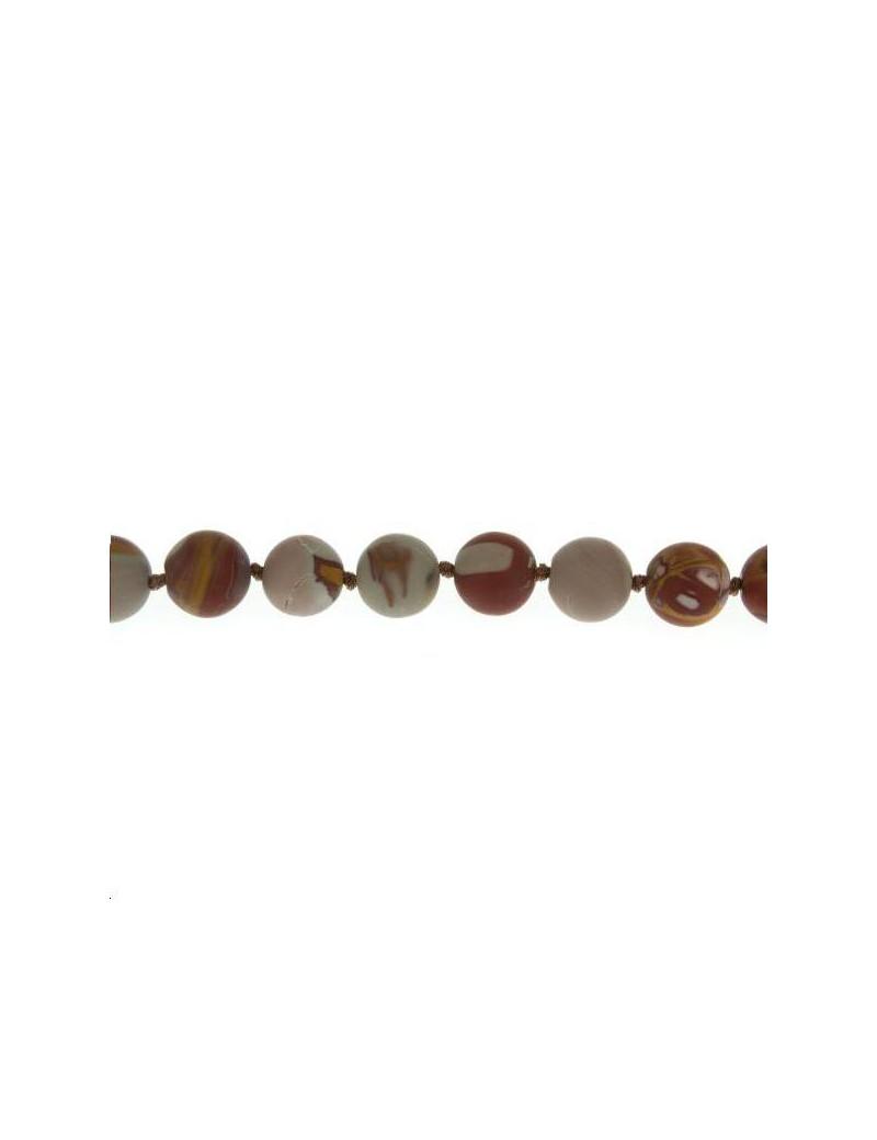 Jaspe noreena 9-10mm mat lot de 2 pièces
