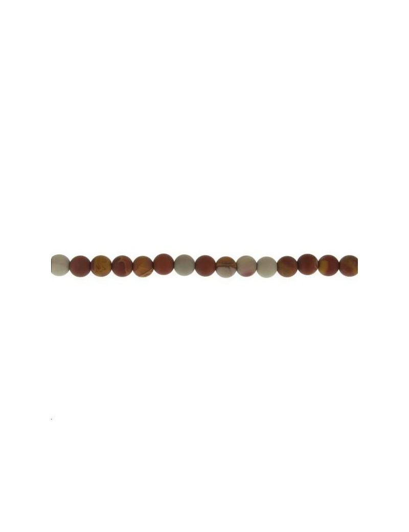 Jaspe noreena 5-6mm mat lot de 10 pièces