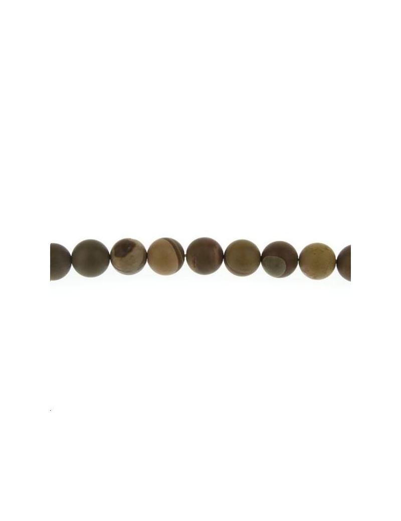 Jaspe picture mexicain 11-12mm mat lot de 2 pièces