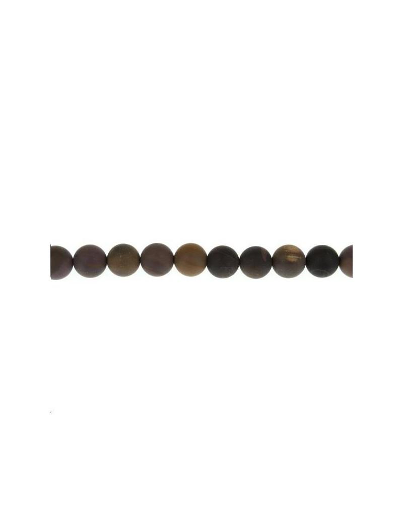 Jaspe picture mexicain 9-10mm mat lot de 3 pièces