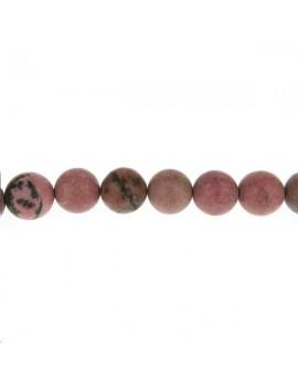 Rhodonite mate 15-16mm lot de 2 pièces