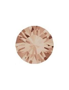Lot de 20 pièces xilion chaton 3.2 mm (PP24) Light peach foiled