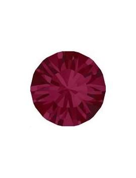 Lot de 20 pièces xilion chaton 3.2 mm (PP24) ruby foiled
