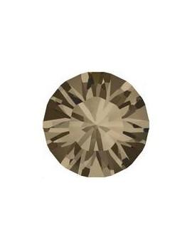 Lot de 20 pièces xilion chaton 3.2 mm (PP24) Smoky quartz foiled