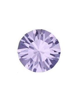 Lot de 20 pièces xilion chaton 3.2 mm (PP24) Violet foiled