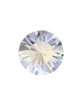 Lot de 20 pièces xilion chaton 3.2 mm (PP24) White opal foiled