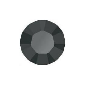 Lot 50 pièces strass plat à coller 4,8mm (SS20) jet hematite foiled