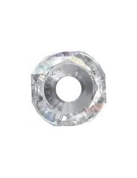 Becharmed Helix bead/Steel 14mm crystal aurore boreale
