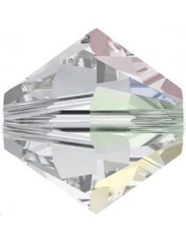 Lot bicônes xilion bead 4 mm crystal aurore boreale  environ 50 pièces