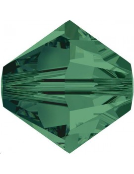 Lot bicônes 4 mm emerald