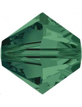 Lot bicônes xilion bead 4 mm  emerald environ 50 pièces
