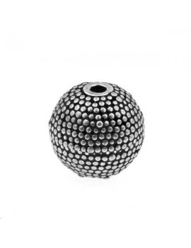 Boule décorée 12mm argent 925/000