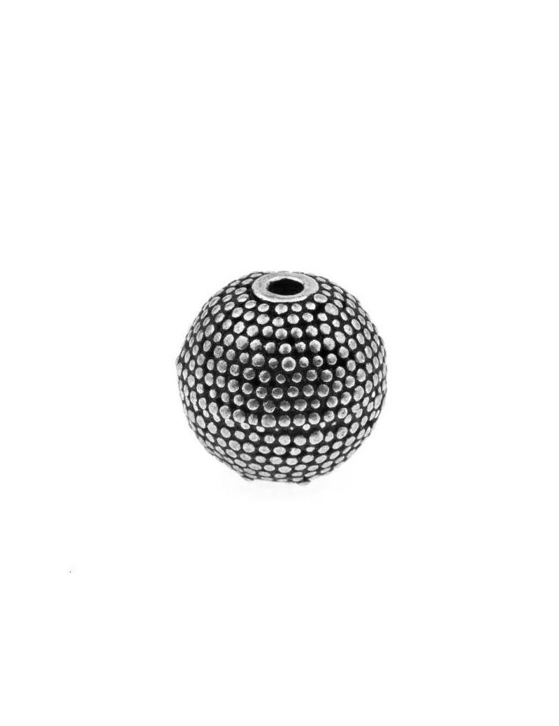 Boule décorée 12mm argent 925/000  (poids:  4,38gr)