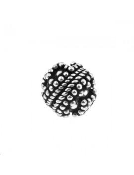 Boule décorée 10mm argent 925/000  (poids:  2,48gr)