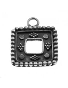Pendentif carré décoré 18x18mm argent 925/000  (poids:  3,3gr)