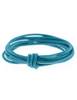 Cuir rond 1.3mm turquoise
