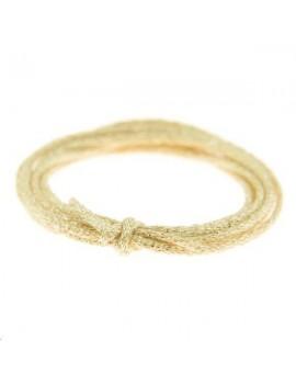 Cordon métallisé rond 2mm doré clair vendu au mètre