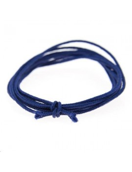 Fashion cord diamètre 0,8mm bleu marine vendu au mètre