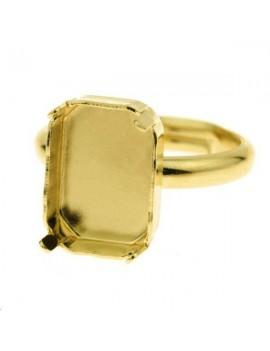 Octogone 14mm avec anneau de bague
