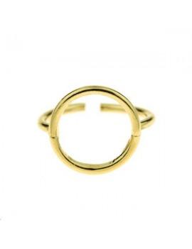 Bague cercle 14mm réglable doré