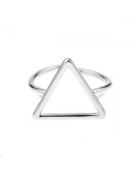 Bague triangle 15mm réglable plaqué argent