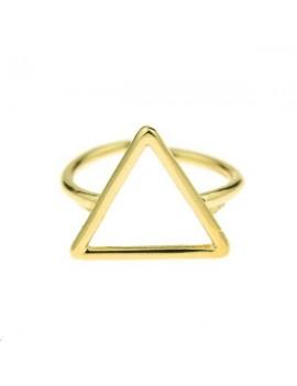 Bague triangle 15mm réglable doré