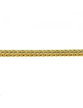 Chaîne maille tressée 2,2mm dorévendue au mètre