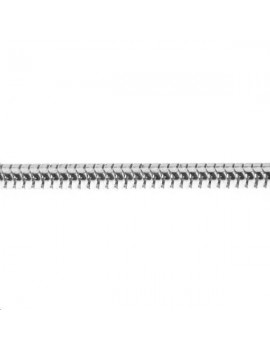Chaîne maille serpent 3,2mm plaqué argentvendue au mètre