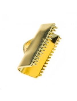 Embout griffe 13x6mm doré