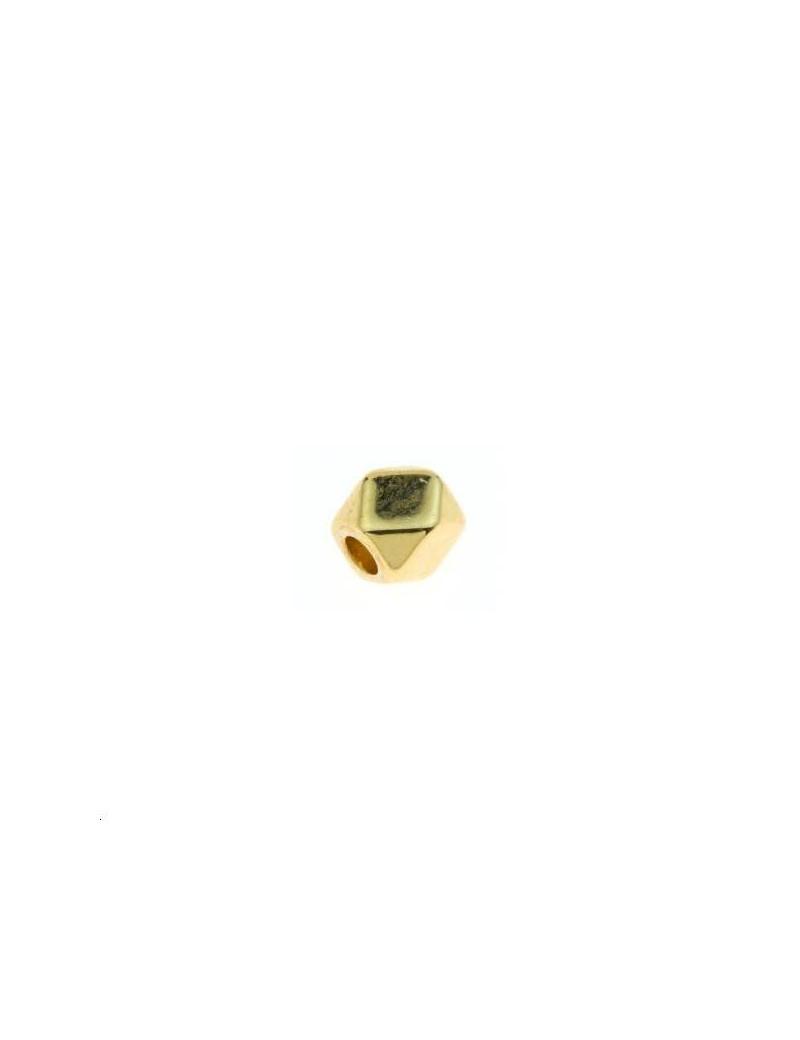 Intercalaire perle polygone 3x3mm doré