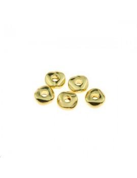 Intercalaire rondelle plate irrégulière 4,8x1,9mm doré