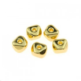 Intercalaire rondelle irrégulière 6,3x4,5mm doré