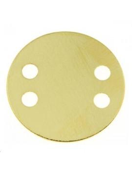Pampille plate 22mm 4 trous doré