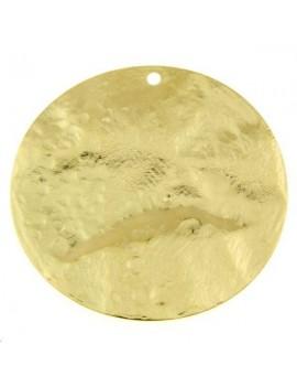 Pampille bosselée 50mm doré