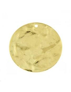 Pampille bosselée 40mm doré