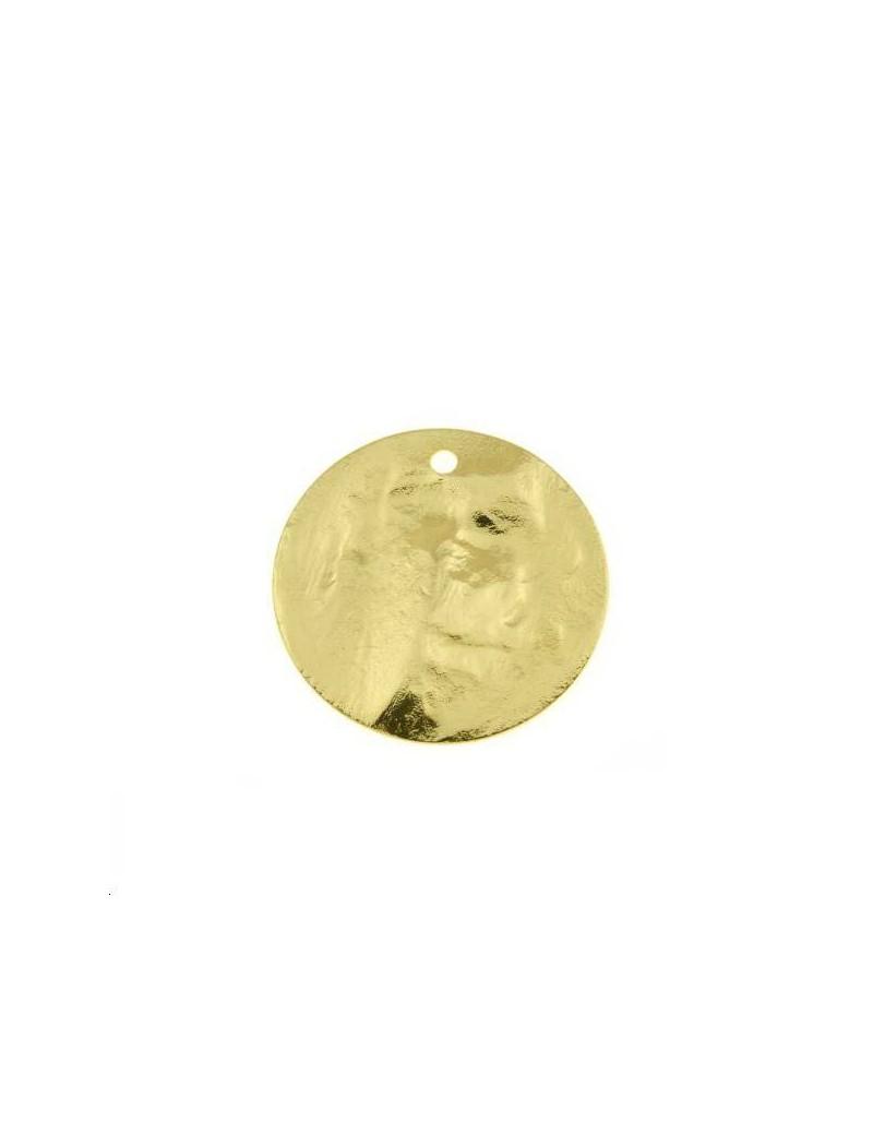 Pampille bosselée 20mm doré