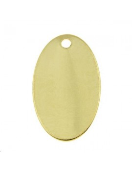 Ovale 17x10mm 1 trou doré