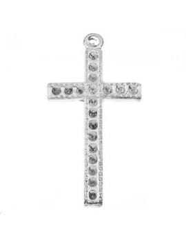 Croix à strasser 25x14mm 1 anneau