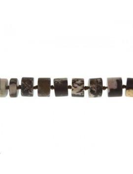 Jaspe outback cylindre 9-10mm mat lot de 2 pièces