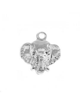 Pendentif tête d'éléphant 1 trou 10x10mm