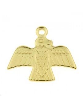 Pendentif aigle 14x17mm doré